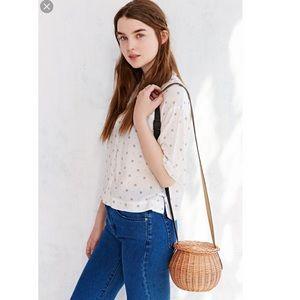 Rosa Mosa Wicker Shoulder Bag